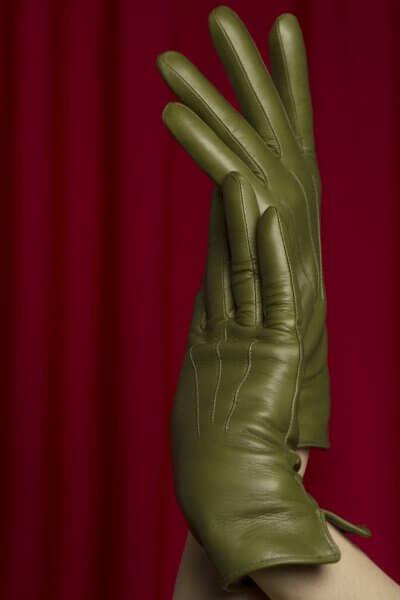 Зимние кожаные перчатки до запястья TOBE_сl_03_gr_wl, фото 1 - в интеренет магазине KAPSULA