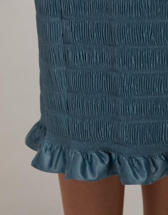 Плиссированное платье миди SAYYA_FW946, фото 7 - в интеренет магазине KAPSULA