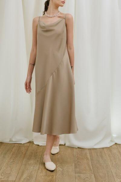 Платье миди на тонких бретелях MNTK_MTDRS01, фото 1 - в интеренет магазине KAPSULA