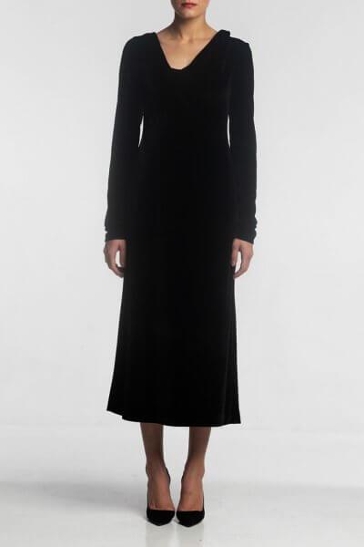 Платье с ассиметричной горловиной ALOT_100363, фото 1 - в интеренет магазине KAPSULA