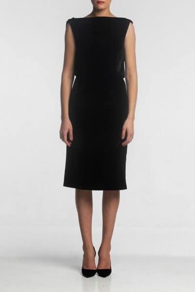 Платье миди с открытой спиной ALOT_100370, фото 1 - в интеренет магазине KAPSULA