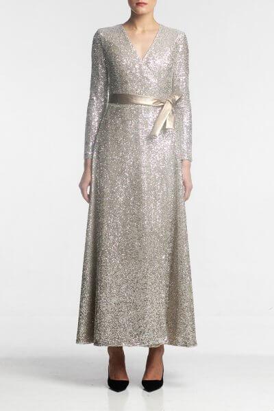 Платье макси в пайетки ALOT_100373, фото 1 - в интеренет магазине KAPSULA