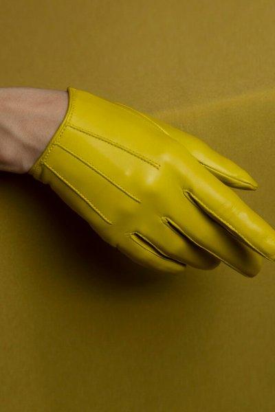 Перчатки укороченные на кнопке из кожи TOBE_md_21_yl_00, фото 1 - в интеренет магазине KAPSULA