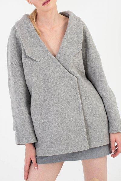 Укороченное пальто из шерсти BEAVR_BA_FW19-20_62, фото 1 - в интеренет магазине KAPSULA