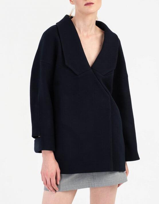 Укороченное пальто из шерсти BEAVR_BA_FW19-20_63, фото 3 - в интеренет магазине KAPSULA