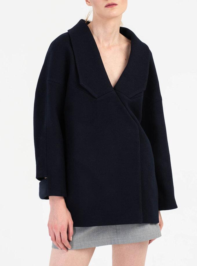 Укороченное пальто из шерсти BEAVR_BA_FW19-20_63, фото 1 - в интернет магазине KAPSULA