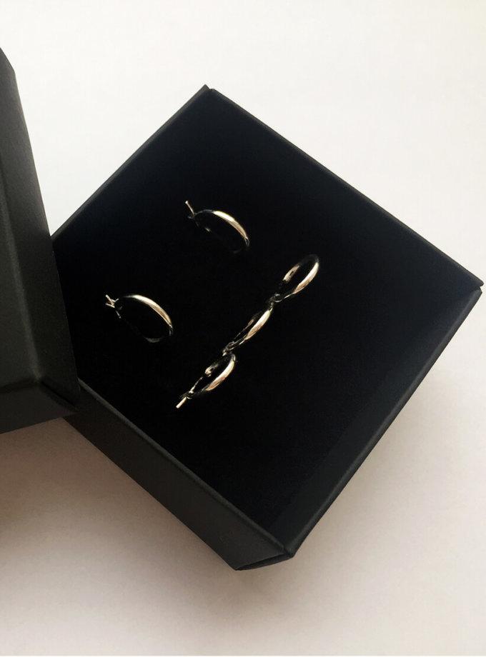 Комплект серьг из серебра BEAVR_BA_FW19-20_68, фото 1 - в интернет магазине KAPSULA