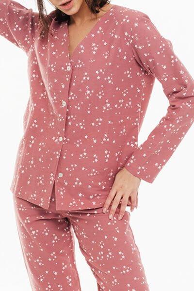 Пижамная рубашка из хлопка BLCGR_640, фото 1 - в интеренет магазине KAPSULA