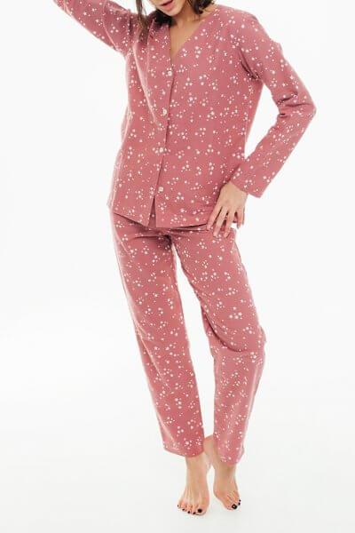 Пижамные брюки из хлопка BLCGR_641, фото 1 - в интеренет магазине KAPSULA