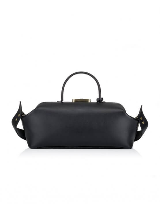 Кожаная сумка-саквояж GRIE Baguette GR_BC_BGT_BLACK, фото 4 - в интеренет магазине KAPSULA