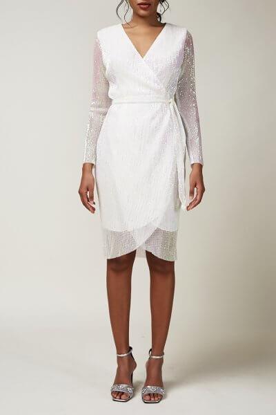 Платье в пайетки на запах CVR_CNY20201B, фото 3 - в интеренет магазине KAPSULA