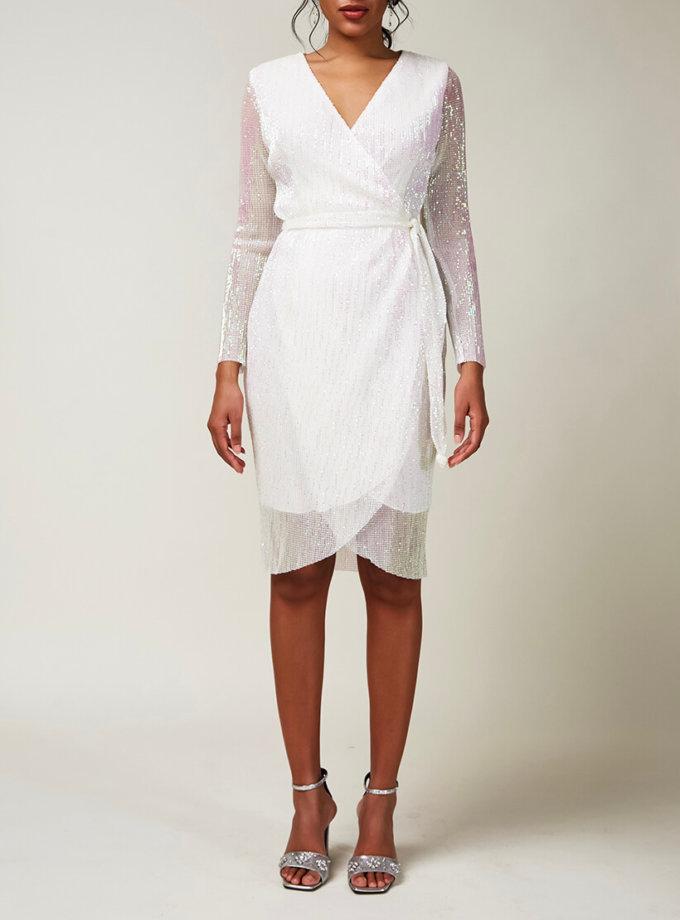 Платье в пайетки на запах CVR_CNY20201B, фото 1 - в интернет магазине KAPSULA