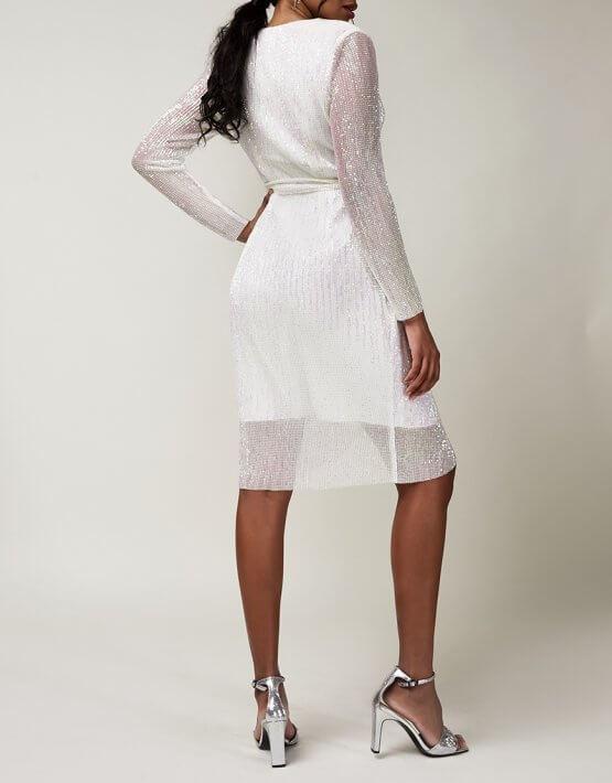 Платье в пайетки на запах CVR_CNY20201B, фото 4 - в интеренет магазине KAPSULA