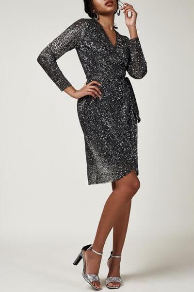 Платье в пайетки на запах CVR_CNY20201S, фото 1 - в интеренет магазине KAPSULA