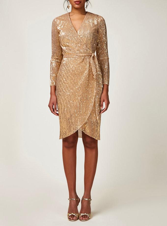 Платье в пайетки на запах CVR_CNY20201Z, фото 1 - в интеренет магазине KAPSULA