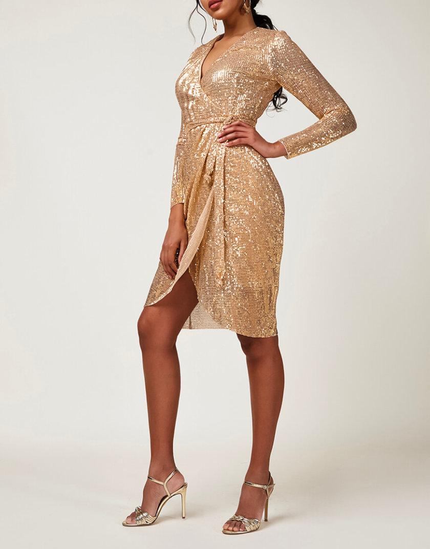 Платье в пайетки на запах CVR_CNY20201Z, фото 1 - в интернет магазине KAPSULA