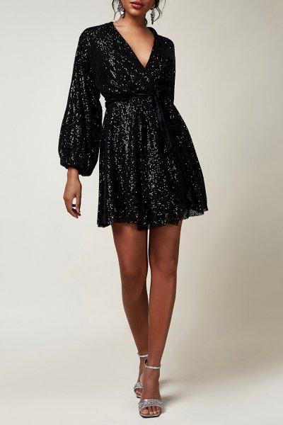 Платье мини в пайетки CVR_CNY20202CH, фото 1 - в интеренет магазине KAPSULA