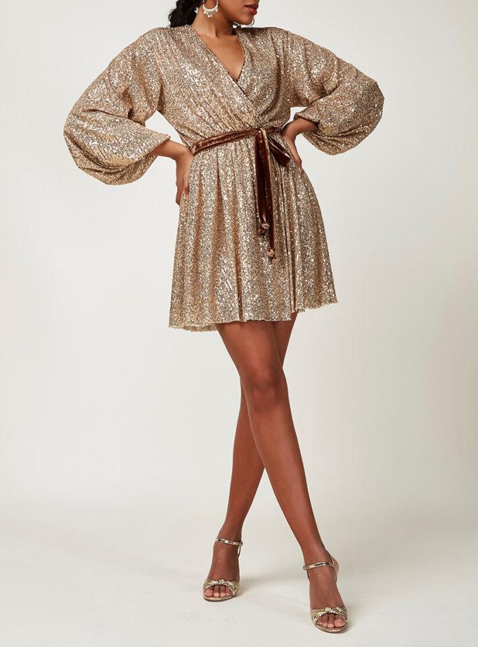 Платье мини в пайетки CVR_CNY20202Z, фото 1 - в интернет магазине KAPSULA