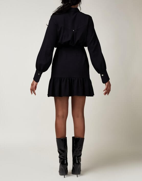 Платье мини с клевером CVR_CNY2020INDI, фото 5 - в интеренет магазине KAPSULA