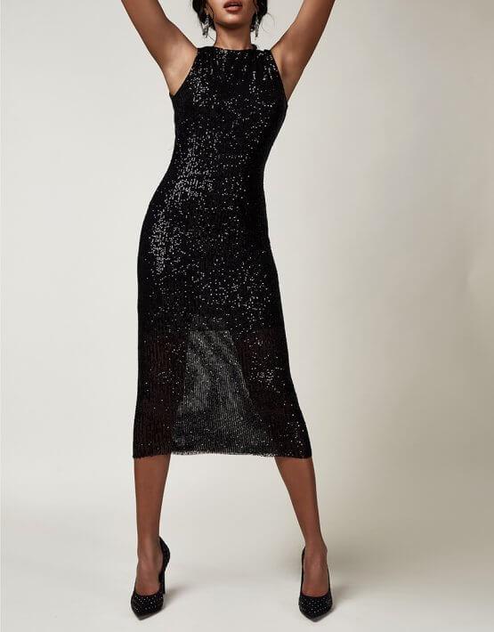 Платье-футляр в пайетки CVR_CNY2020MAF, фото 5 - в интеренет магазине KAPSULA