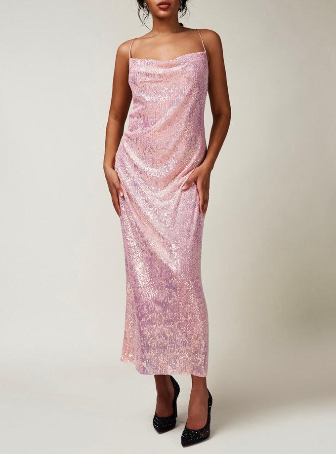 Платье с открытой спиной в пайетки CVR_CNY2020ROT, фото 1 - в интернет магазине KAPSULA