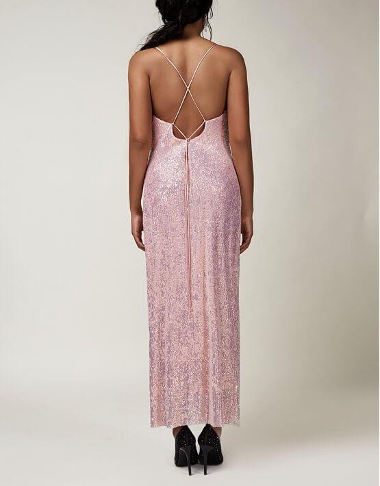 Платье с открытой спиной в пайетки CVR_CNY2020ROT, фото 5 - в интеренет магазине KAPSULA