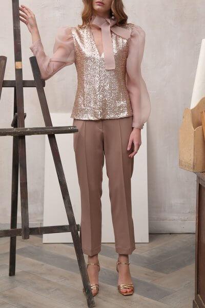 Укороченные брюки с разрезами VONA_FW-19-20-113, фото 1 - в интеренет магазине KAPSULA