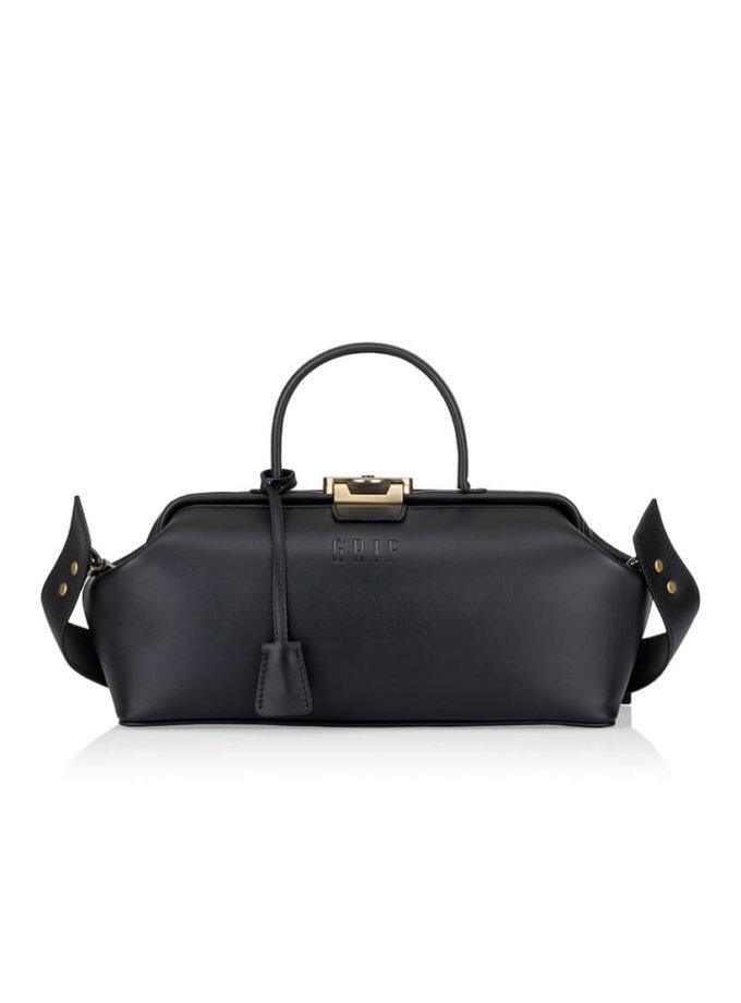 Кожаная сумка-саквояж GRIE Baguette GR_BC_BGT_BLACK, фото 1 - в интеренет магазине KAPSULA