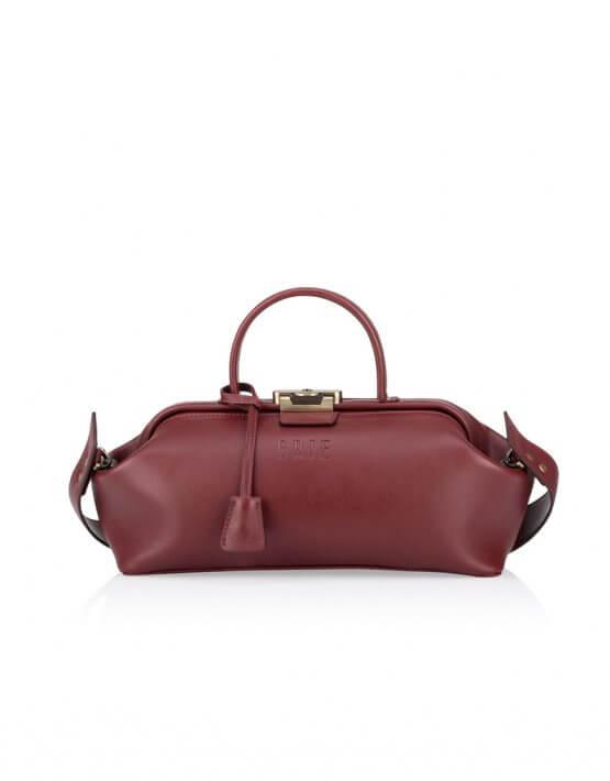 Кожаная сумка-саквояж  Baguette GR_BC_BGT_BURG, фото 5 - в интеренет магазине KAPSULA