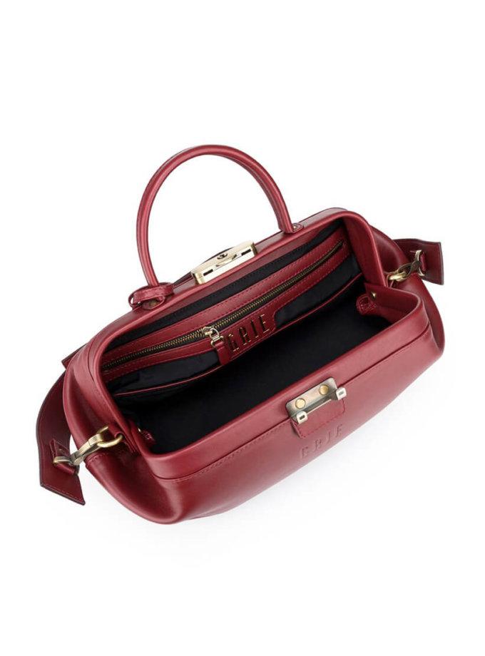 Кожаная сумка-саквояж  Baguette GR_BC_BGT_BURG, фото 1 - в интеренет магазине KAPSULA
