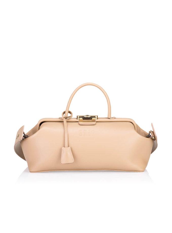 Кожаная сумка-саквояж  Baguette GR_BC_BGT_NUDE, фото 1 - в интеренет магазине KAPSULA