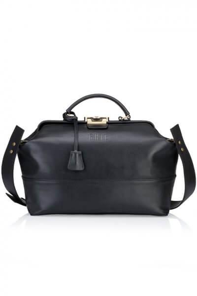 Кожанная сумка-саквояж Midi GR_BC_MD_BLACK, фото 1 - в интеренет магазине KAPSULA