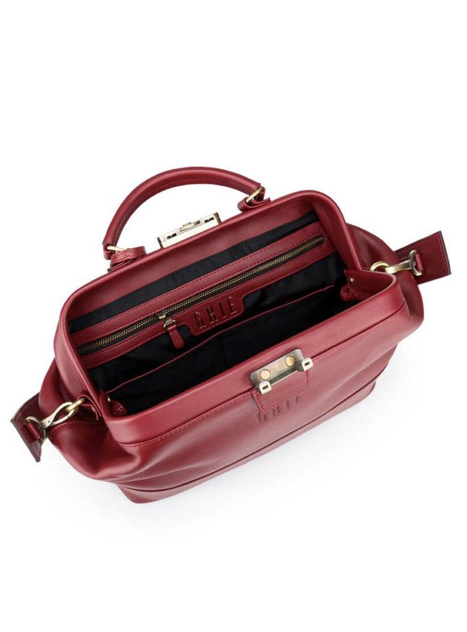 Классическая сумка-саквояж Midi из кожи GR_BC_MD_BURG, фото 1 - в интеренет магазине KAPSULA