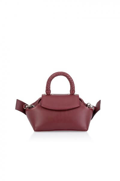 Кожаная сумка-саквояж Mimi GR_BC_MM_BURG, фото 1 - в интеренет магазине KAPSULA