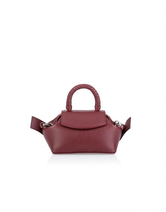 Кожаная сумка-саквояж Mimi GR_BC_MM_BURG, фото 5 - в интеренет магазине KAPSULA
