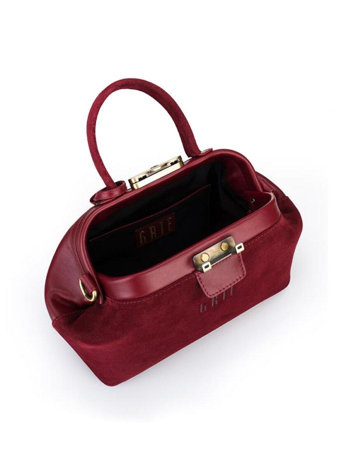 Кожаная сумка-саквояж Noble GR_BC_NBL_S_BURG, фото 1 - в интеренет магазине KAPSULA