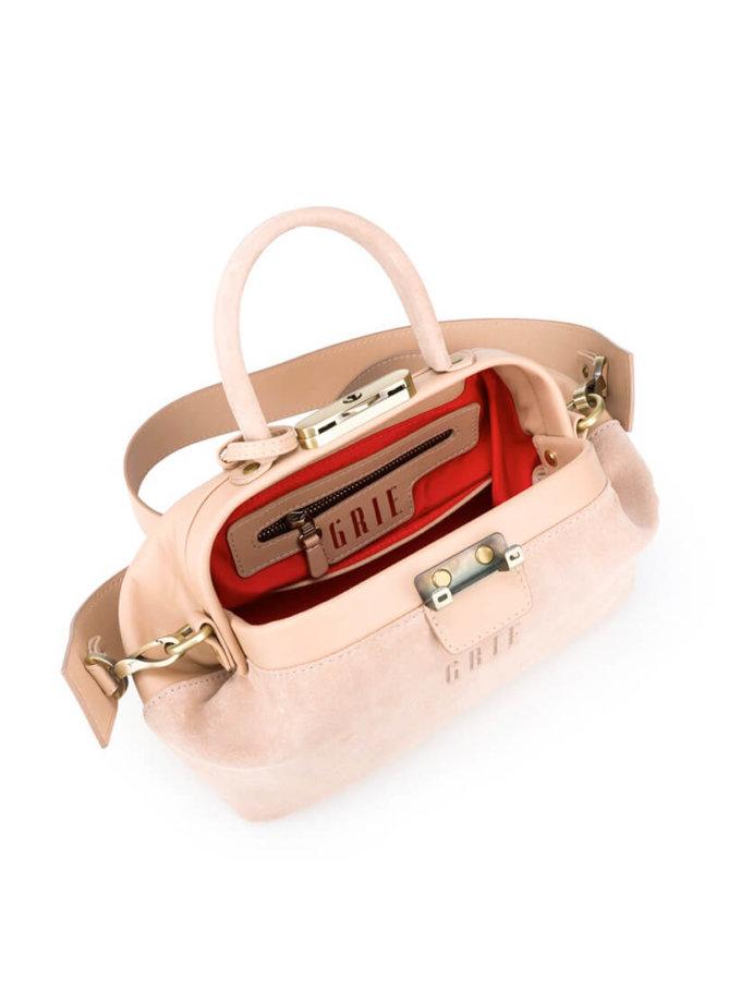 Кожаная сумка-саквояж Noble GR_BC_NBL_S_NUDE, фото 1 - в интеренет магазине KAPSULA