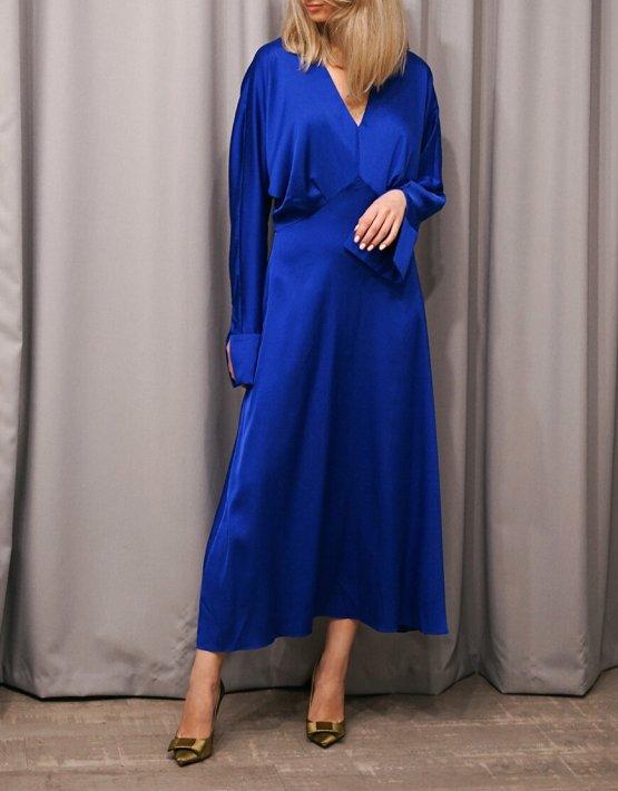 Шелковое платье миди NVL_Fw19_9, фото 3 - в интеренет магазине KAPSULA