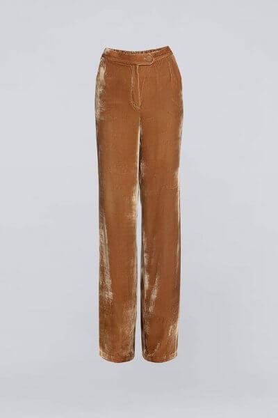 Бархатные брюки-клеш IRRO_IR_WC19_PB_005, фото 1 - в интеренет магазине KAPSULA