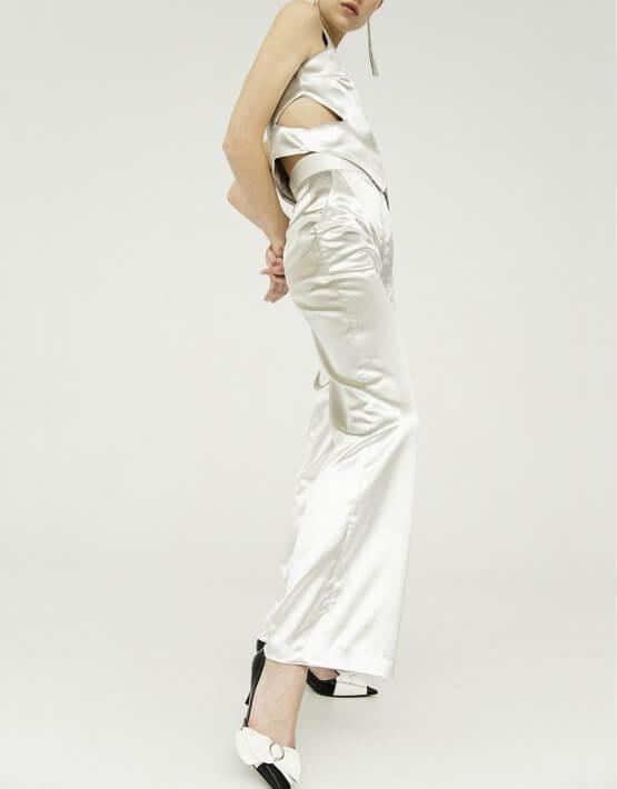 Бархатные брюки-клеш IRRO_IR_WC19_PS_003, фото 2 - в интеренет магазине KAPSULA