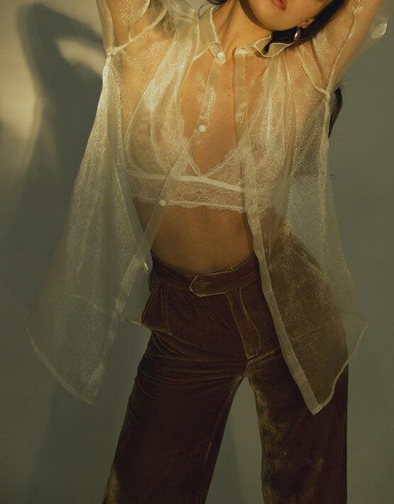 Прозрачная блуза из органзы IRRO_IR_WC19_SO_008, фото 5 - в интеренет магазине KAPSULA
