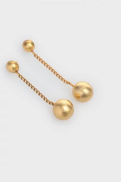 Серьги Chains с позолотой IVNR_.526..199.001, фото 1 - в интеренет магазине KAPSULA