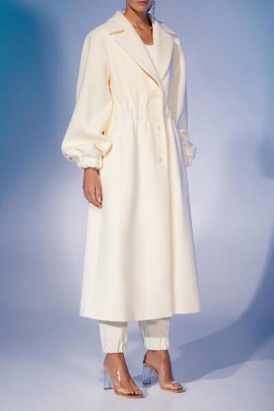 Пальто из шерсти с объёмными рукавами MF-FW2021-7, фото 3 - в интеренет магазине KAPSULA