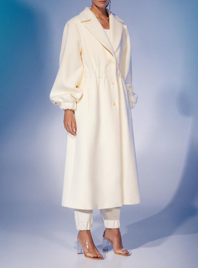 Пальто из шерсти с объёмными рукавами MF-FW2021-7, фото 1 - в интеренет магазине KAPSULA