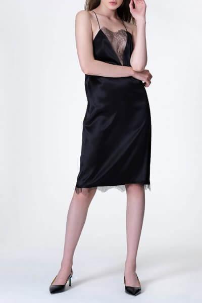 Шековое платье с кружевом MISS_DR 028-black, фото 5 - в интеренет магазине KAPSULA