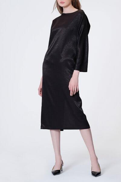 Платье с V-вырезом на  спине MISS_DR 030-black, фото 1 - в интеренет магазине KAPSULA