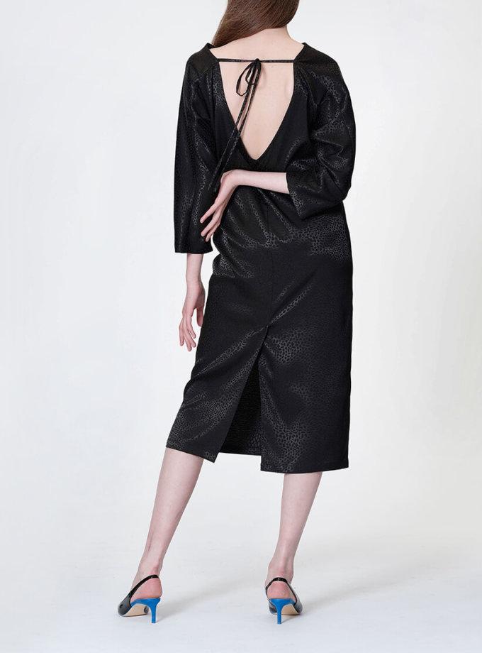 Платье с V-вырезом на  спине MISS_DR 030-black_outlet, фото 1 - в интернет магазине KAPSULA