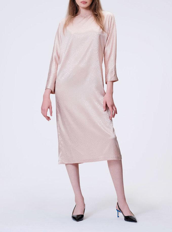 Коктейльное платье с V-вырезом на  спине MISS_DR 030-nude_outlet, фото 1 - в интернет магазине KAPSULA
