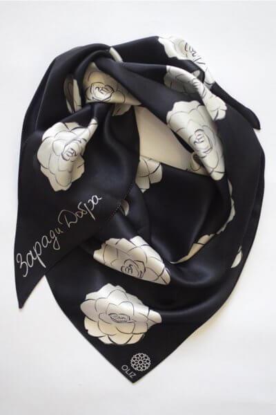 Шелковый платок Камелии OLZ_KS_SS139, фото 1 - в интеренет магазине KAPSULA