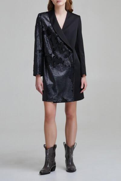 Атласное платье жакет с пайетками SAYYA _FW 846, фото 6 - в интеренет магазине KAPSULA